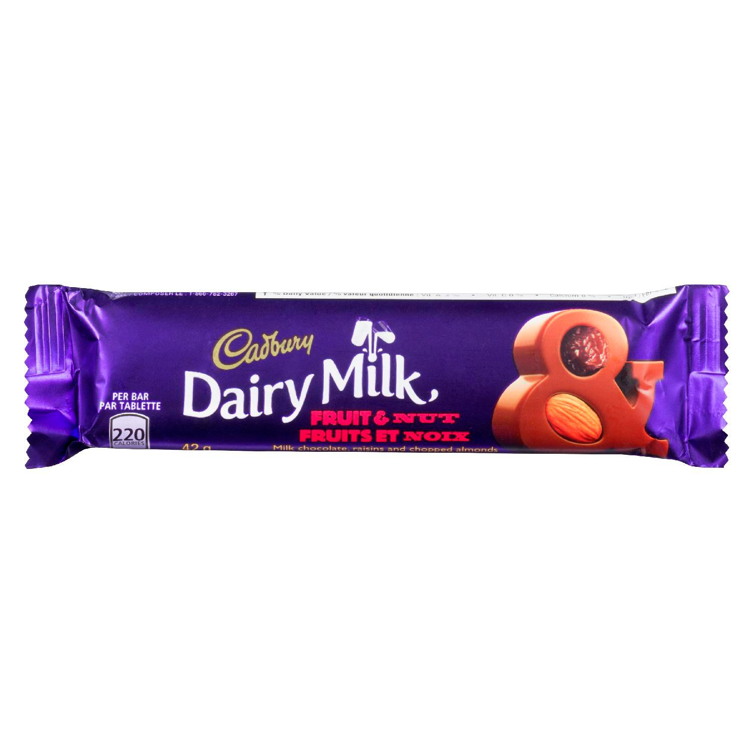 CADBURY DAIRY MILK Dairy Milk FRUIT AND NUT 42 GR