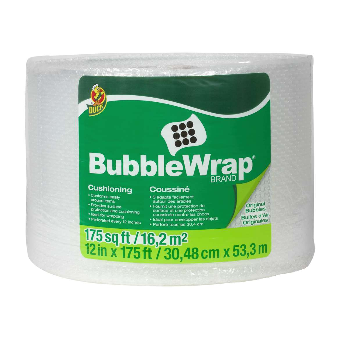 Duck® Brand Original Bubble Wrap® Cushioning - Clear, 12 in. x 175 ft. Image