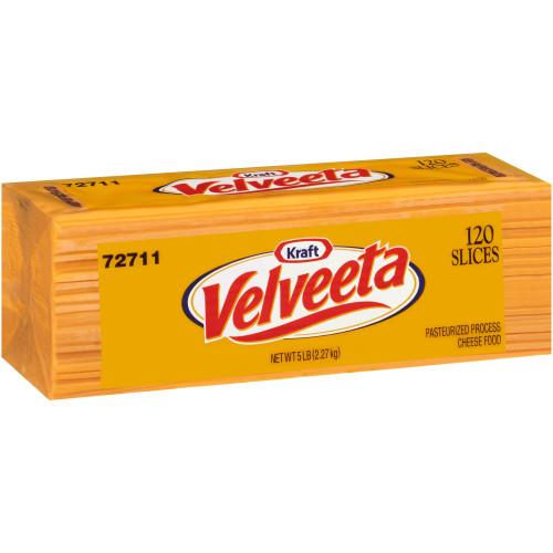 VELVEETA Sliced Cheese (120 Slices), 5 lb. (Pack of 4)