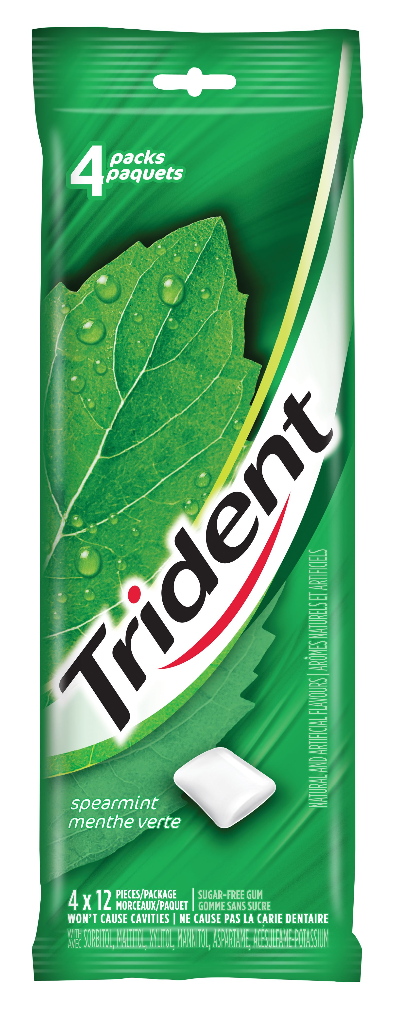 Trident Spearmint Gum 48 Count