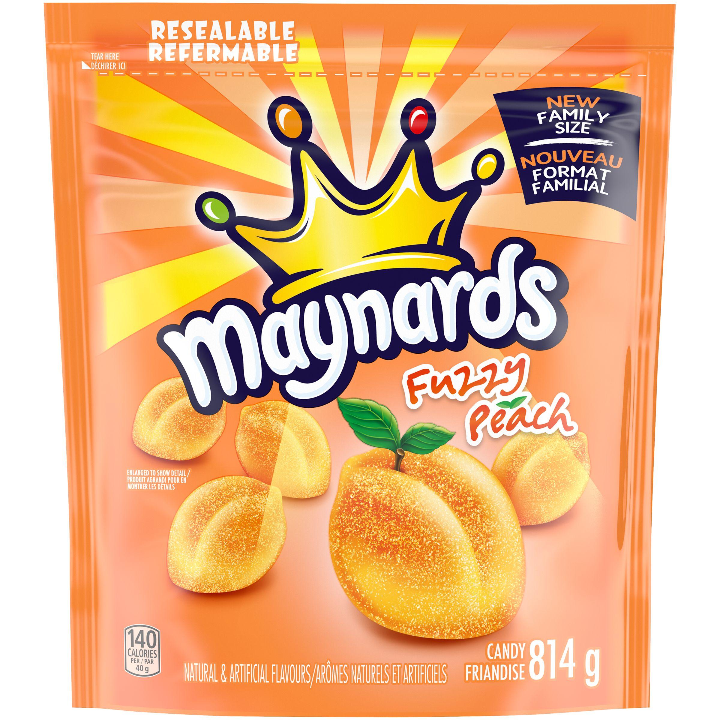 Maynards Fuzzy Peach Soft Candy 814 G