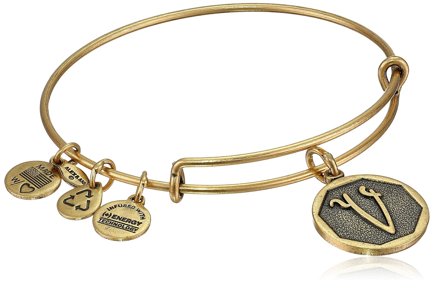 new alex and ani initial expandable wire bangle bracelet