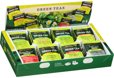 Green Tea Variety Gift Box - total of 64 teabags