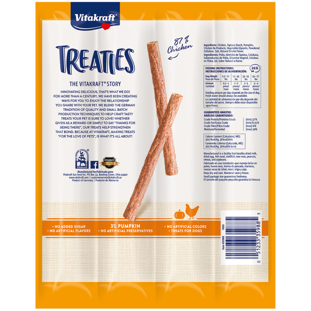 Back-Image showing Treaties Smoked Chicken Recipe with Pumpkin, 4 Pack