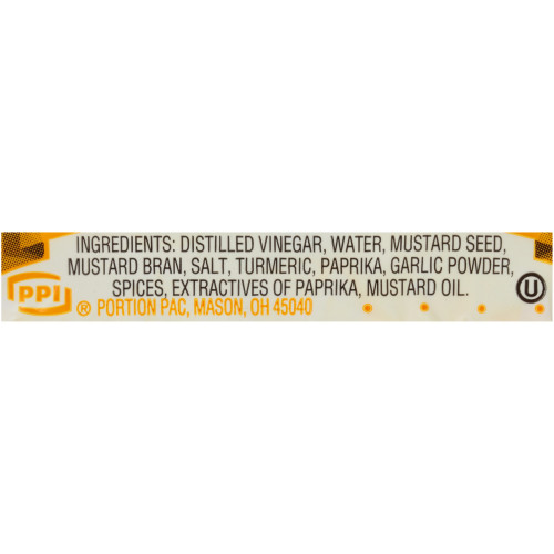 PPI Single Serve Mustard, 5.5 gr. Packets (Pack of 500)