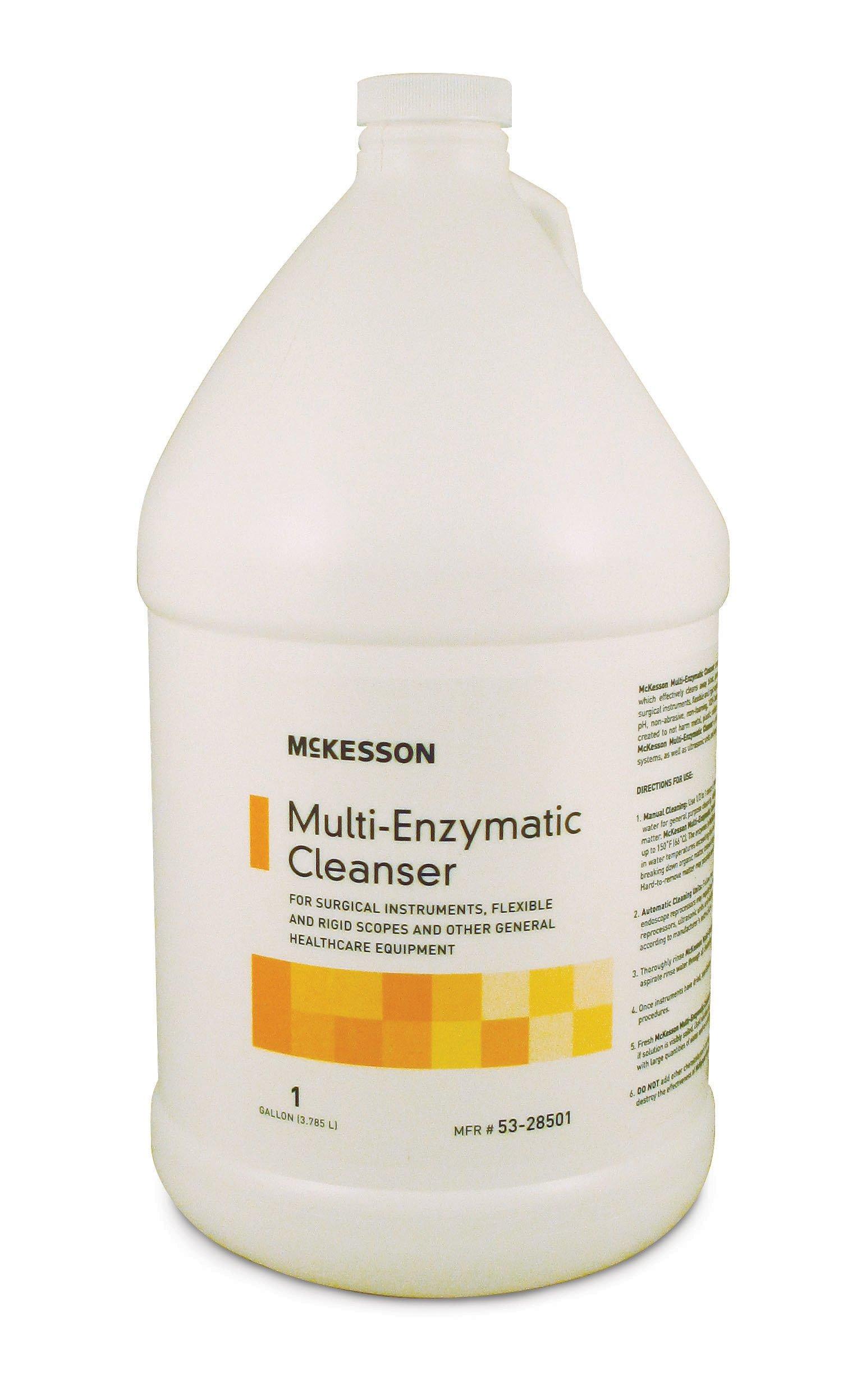 Multi-Enzymatic Instrument Detergent, McKesson, Liquid 1 gal. Jug Eucalyptus Spearmint Scent, 53-28501 - EACH