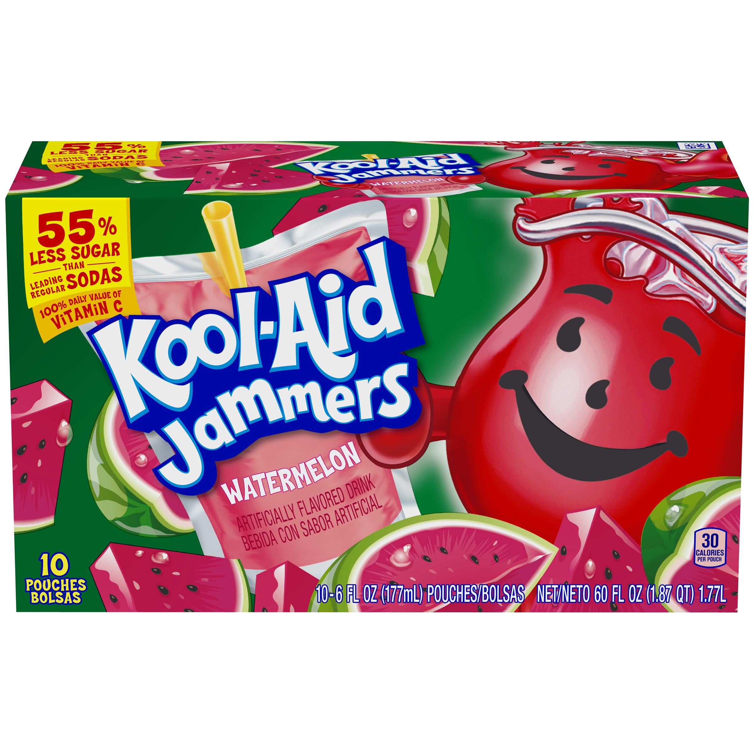 Kool-Aid Jammers Watermelon Flavored Drink 60 fl oz Box (10-6 fl oz Pouches) image