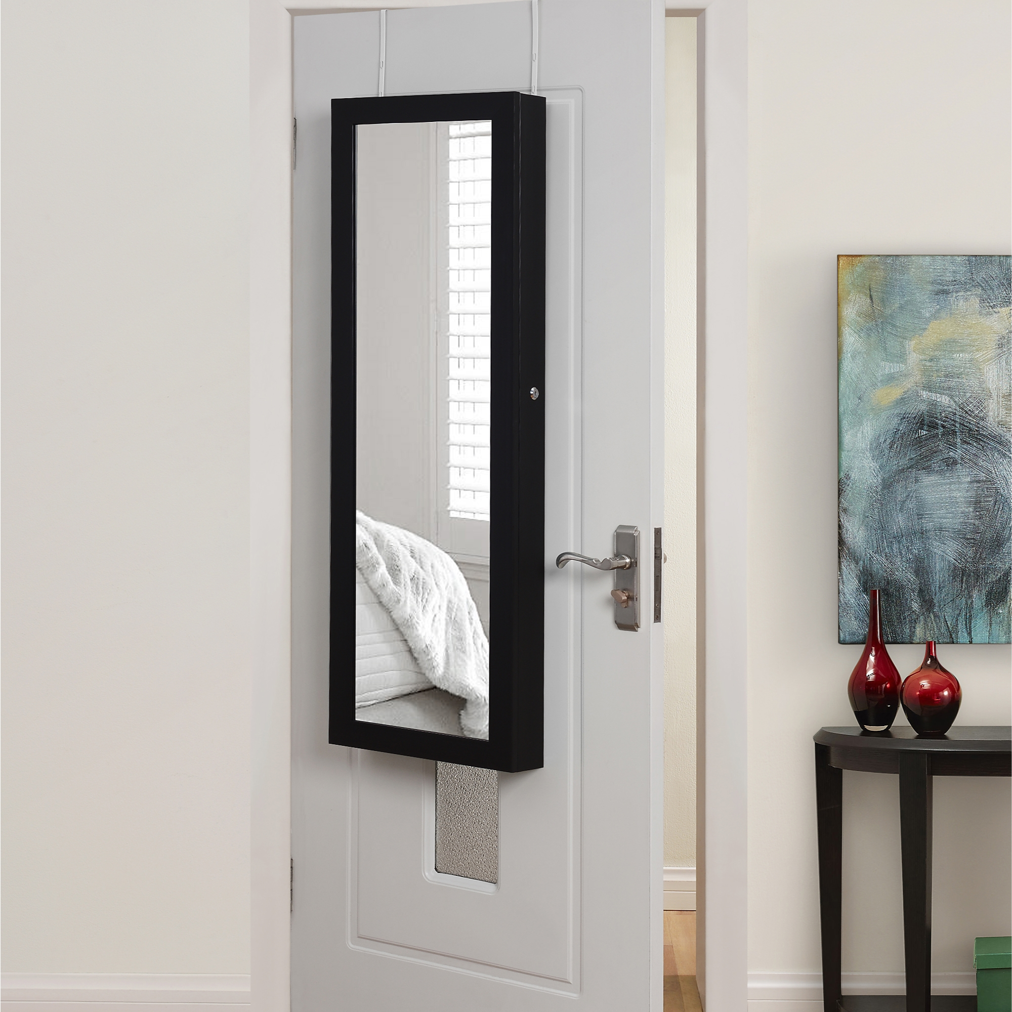 Inspired Home Black Jewelry Furniture Over-the-Door/Wall Mounted