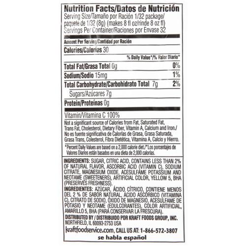 TWIST Lemonade Powdered Mix,  8.6 oz. Pouch (Pack of 12)