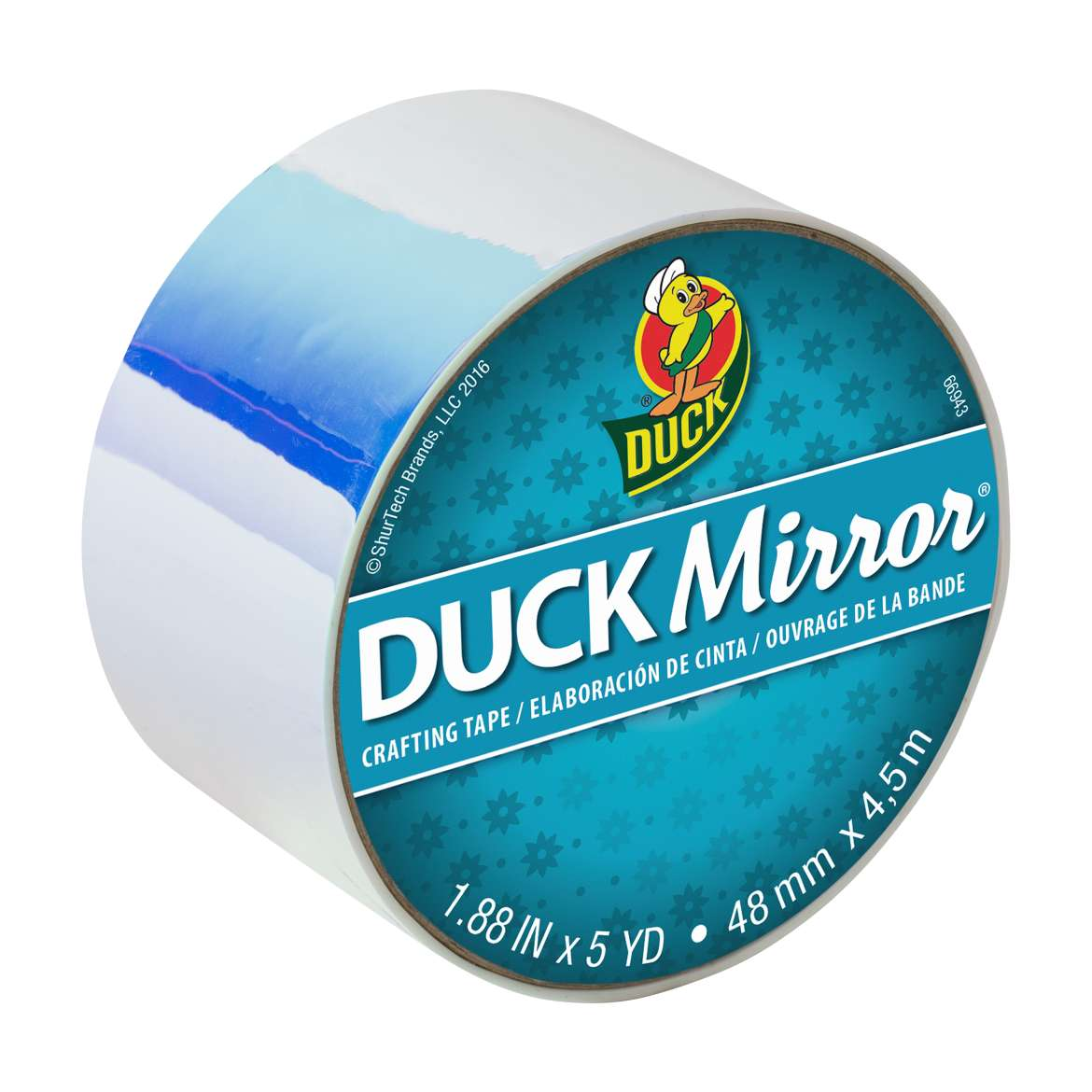 Duck Mirror® Crafting Tape - White, 1.88 in. x 5 yd. Image