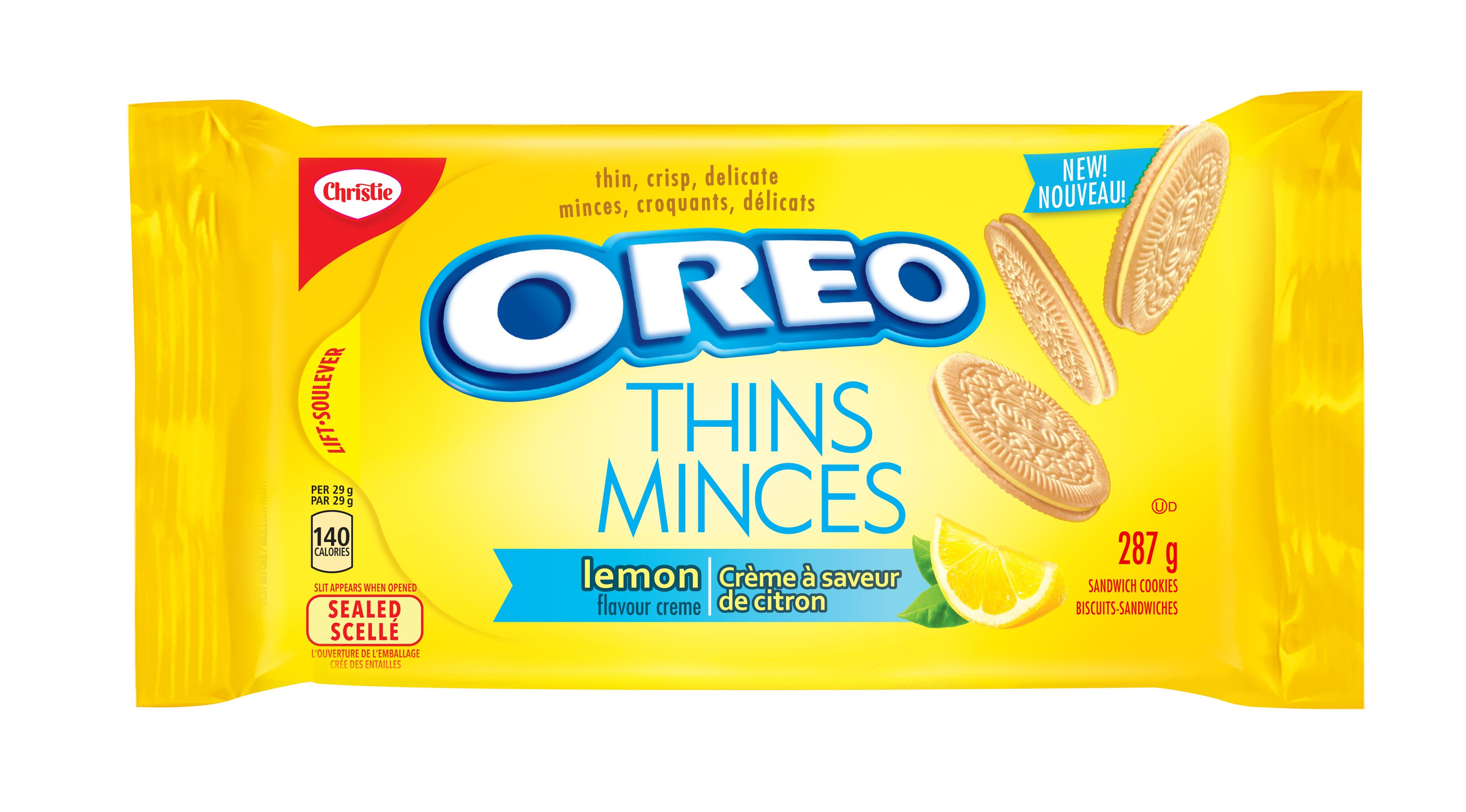 Oreo Thins Lemon Cookies 287 G