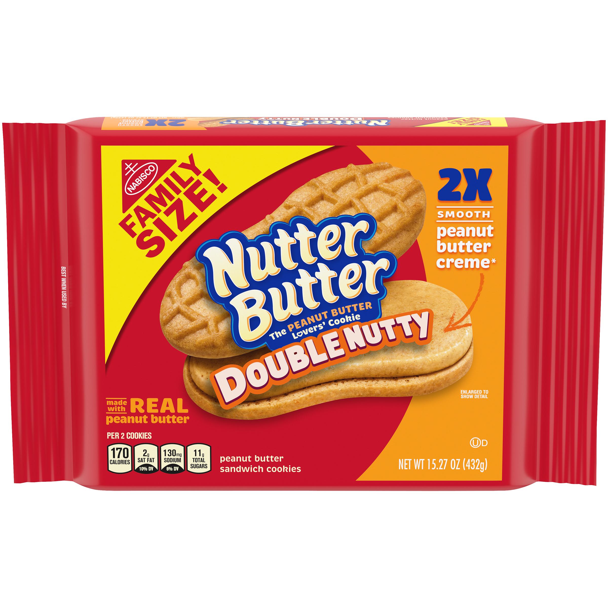 NUTTER BUTTER Double Nutty Xtra Nutty Sandwich Cookies 15.27 oz