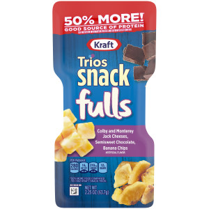 Kraft Trios - Colby Jack, Banana Chips & Dark Chocolate, 2.25 oz. image
