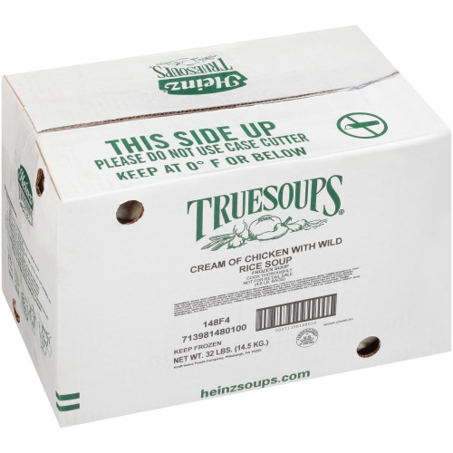 HEINZ TRUESOUPS Cream of Chicken Soup with Wild Rice, 8 lb. Bag (Pack of 4)