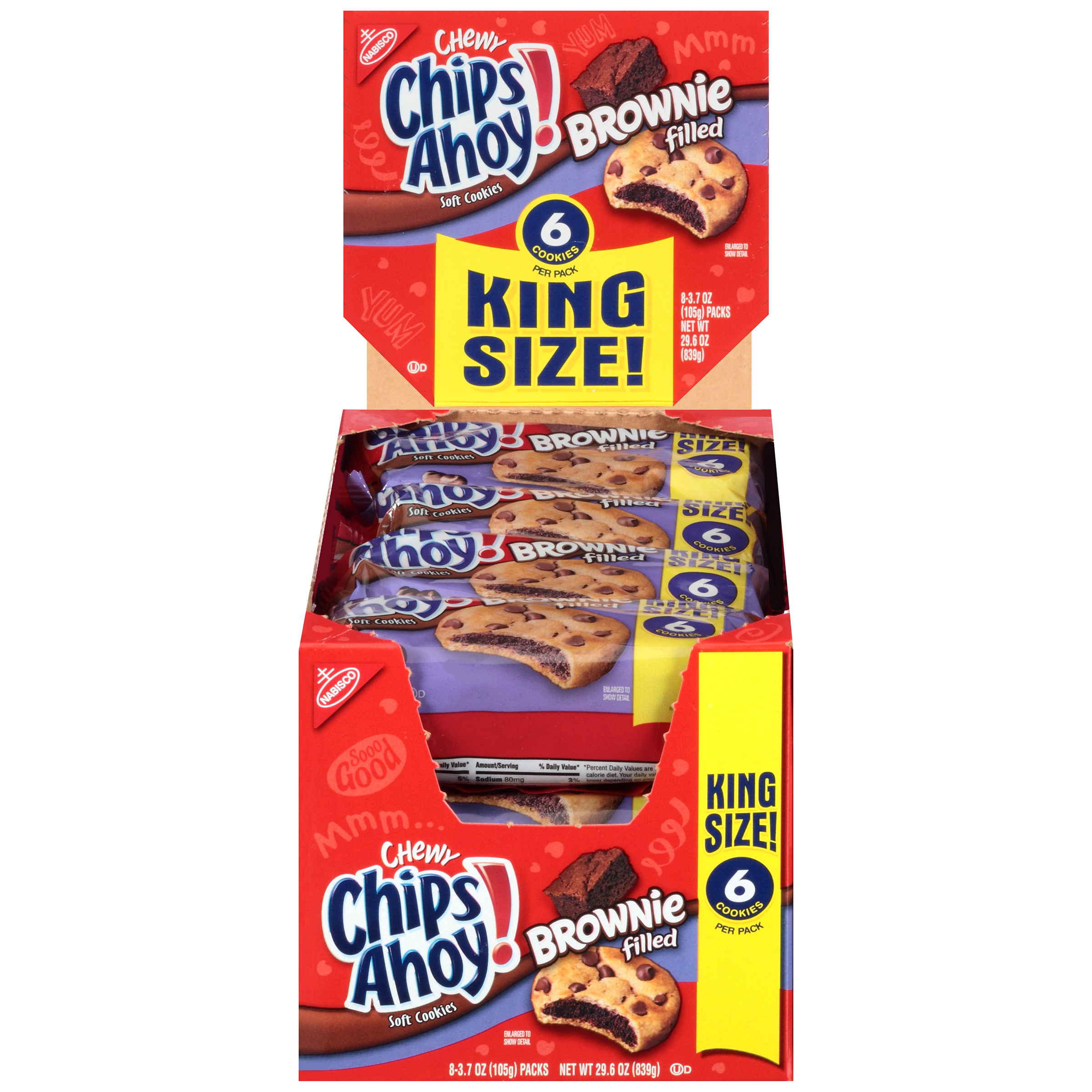 CHIPS AHOY! Chewy Brownie Filled Cookies 29.6 oz
