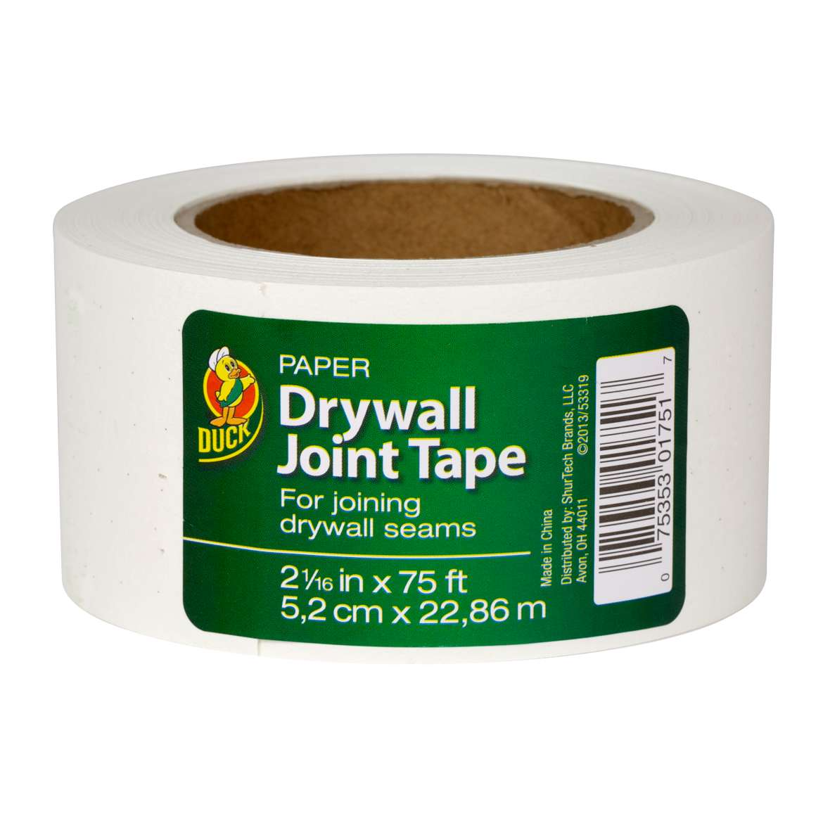 Duck® Brand Paper Drywall Joint Tape, 2.06 in. x 75 ft. Image