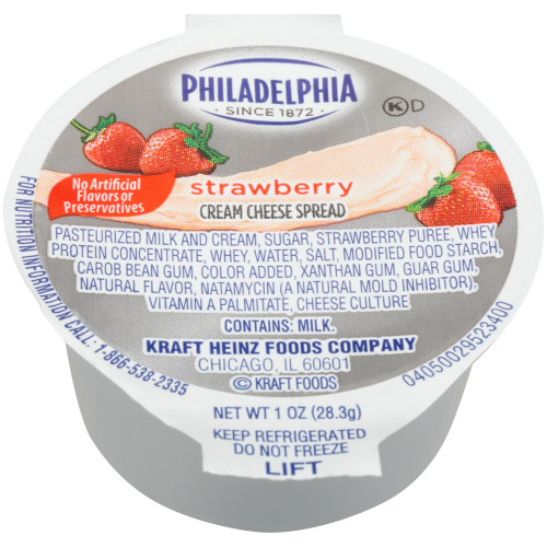PHILADELPHIA Strawberry Cream Cheese Spread, 1 oz. Cup (Pack of 100)