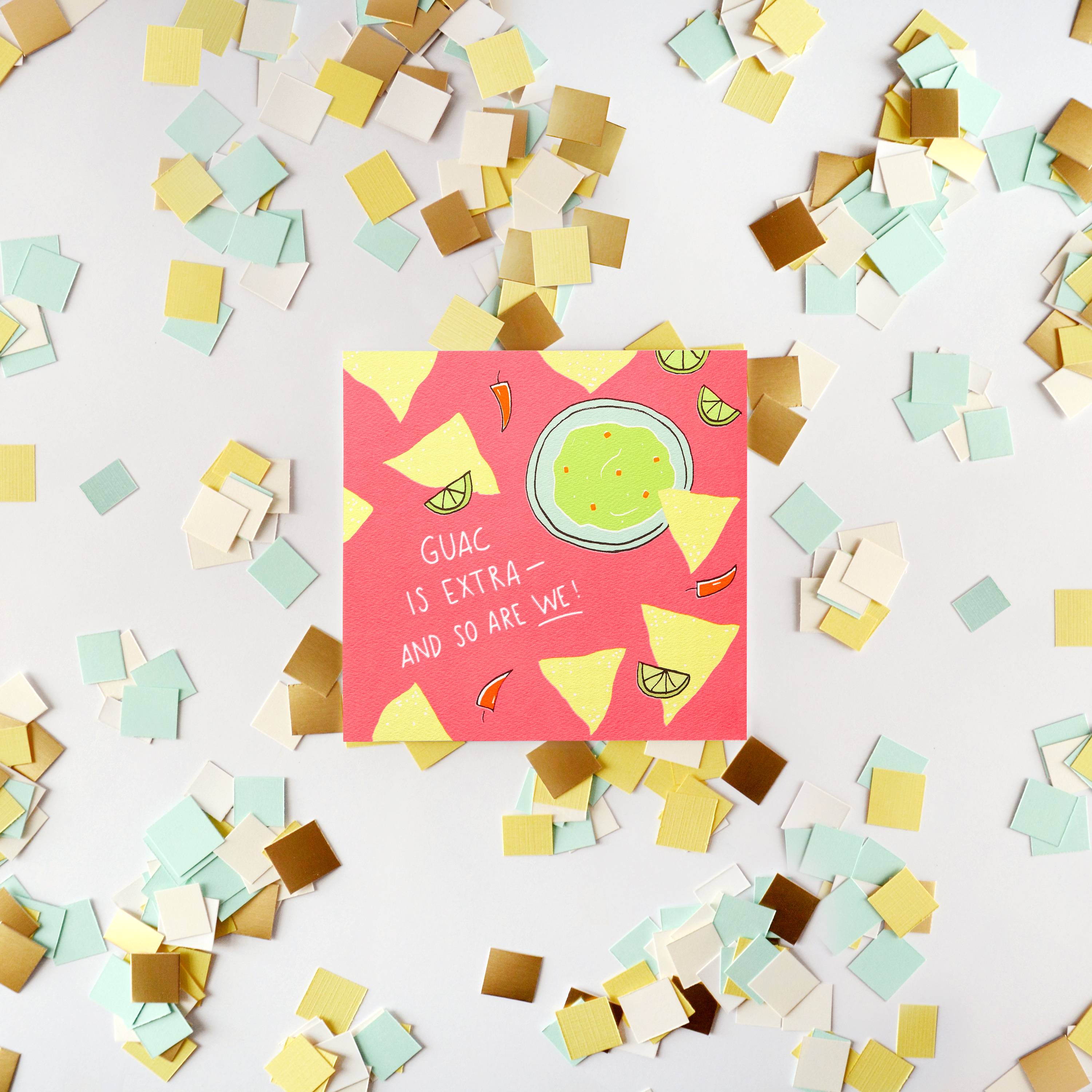 Guacamole Greeting Card - Birthday, Thinking of You, Friendship image