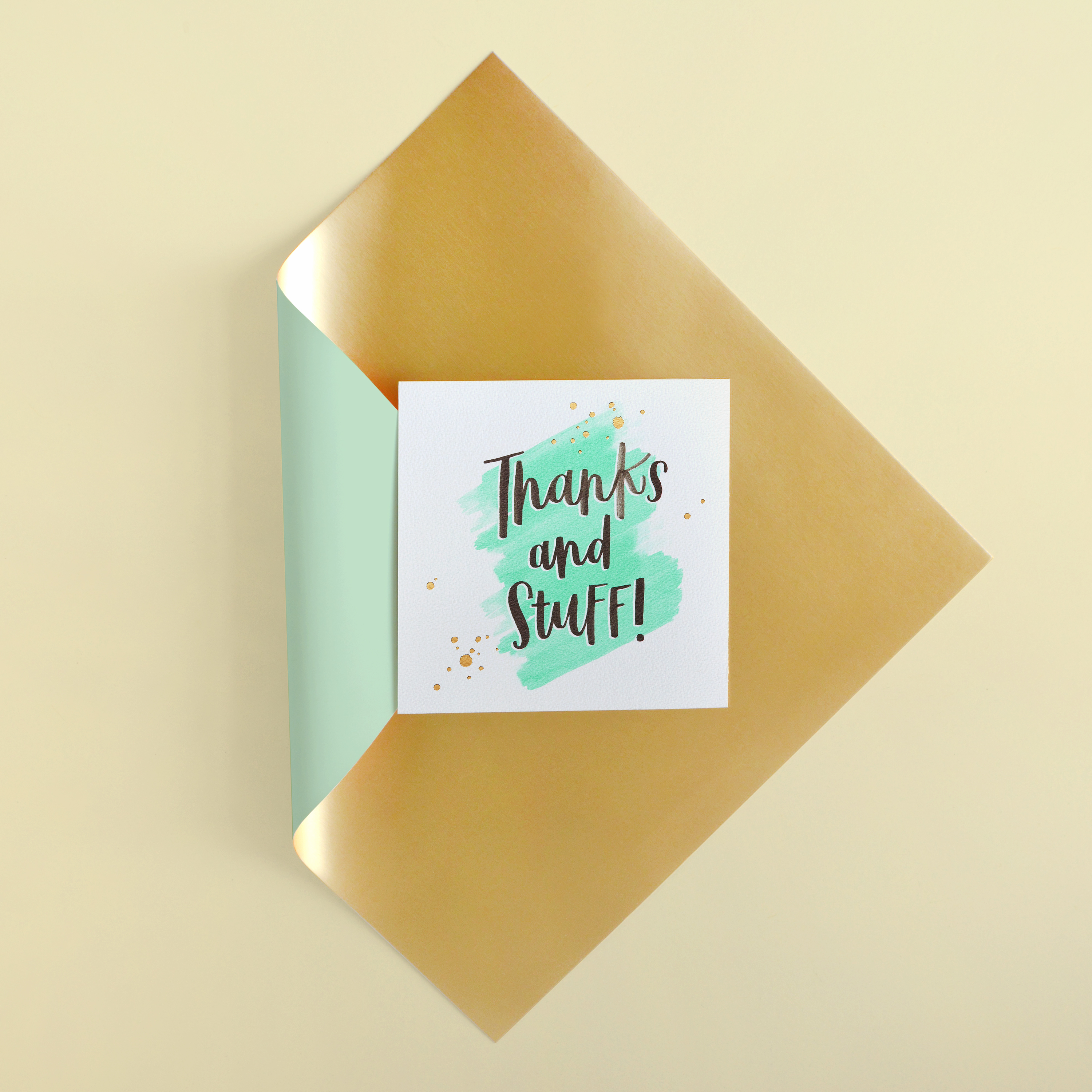 Thanks and Stuff Thank You Greeting Card image