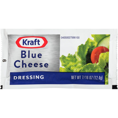 KRAFT Single Serve Roka Blue Cheese Salad Dressing, 0.44 oz. Packets (Pack of 200)