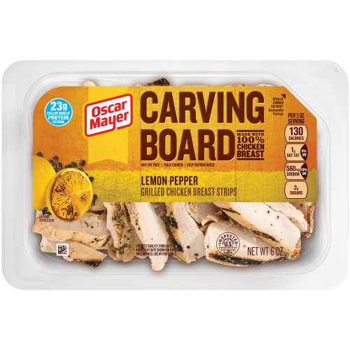 Oscar Mayer Lemon Pepper Grilled Chicken Strips Tray, 6 oz