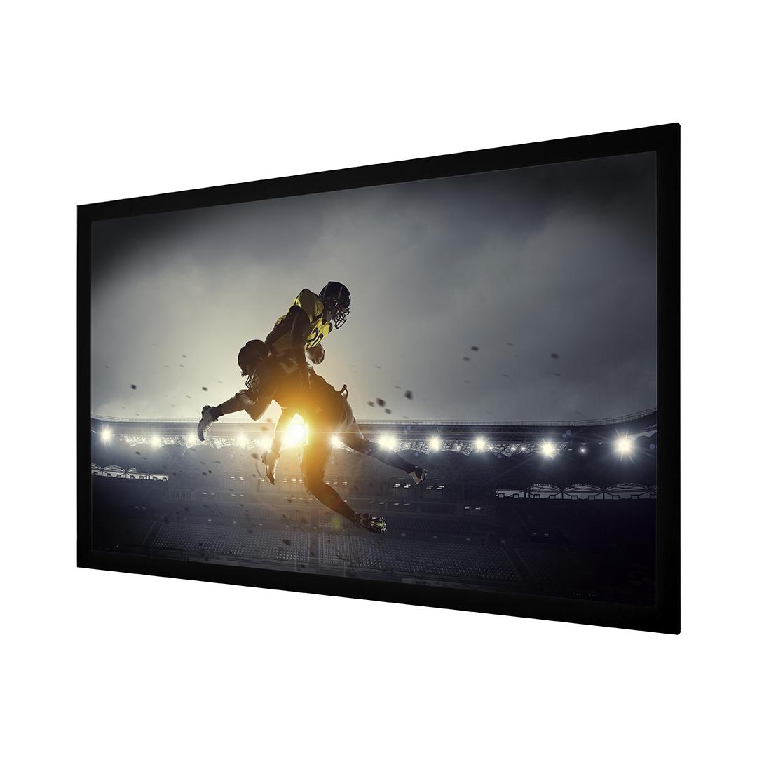 Matte White 120 Fixed Screen Wave Electronics