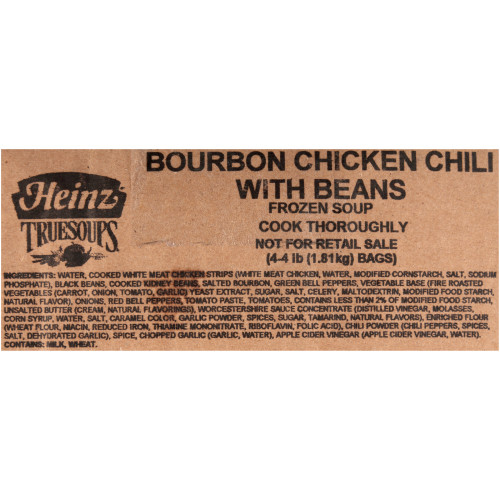 HEINZ TRUESOUPS Bourbon Chicken Chili Soup, 4 lb. Bag (Pack of 4)