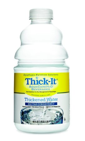 Thick-It AquaCareH2O Thickened Beverage 46 oz. Bottle Unflavored Ready to Use Nectar Consistency, B480-A7044 - EACH