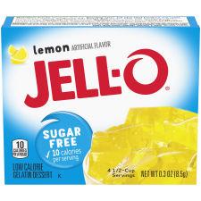 Jell-O Lemon Sugar Free Gelatin Mix 0.3 oz Box
