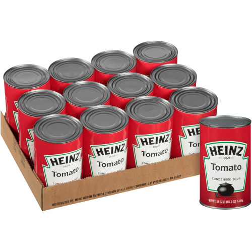 HEINZ Condensed Tomato Soup, 51 oz. Can, (Pack of 12)