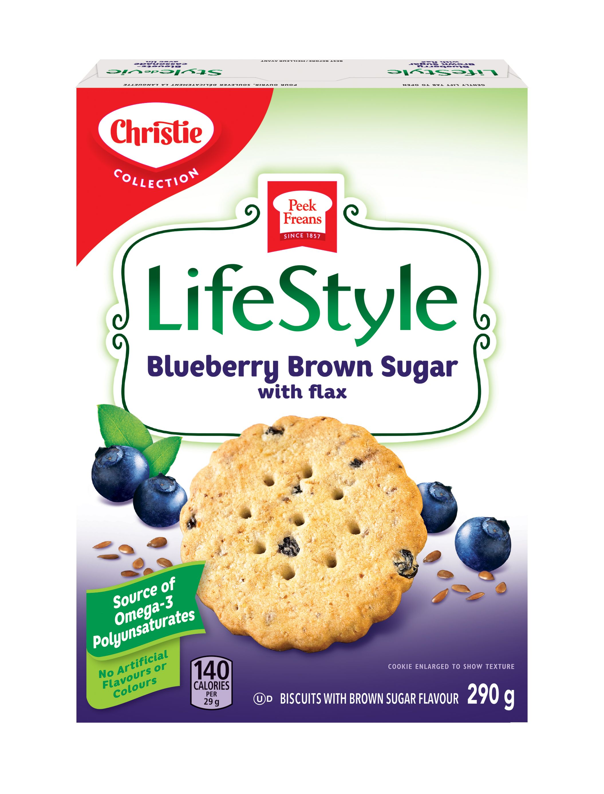 PEEK FREANS Lifestyle Selections BLUEBERRY BROWN SUGAR 290 GRM