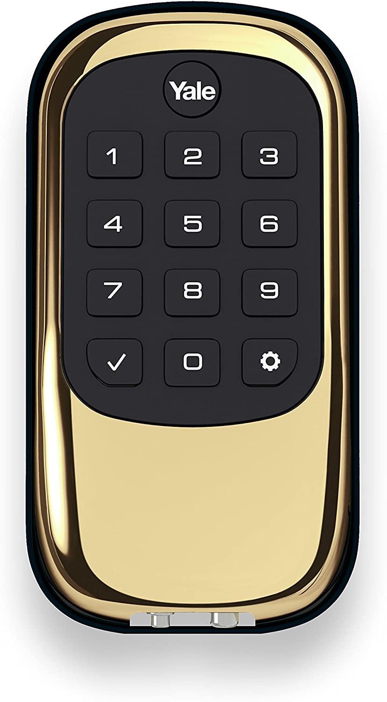 Brass Keyless Push Button Deadbolt Wave Electronics