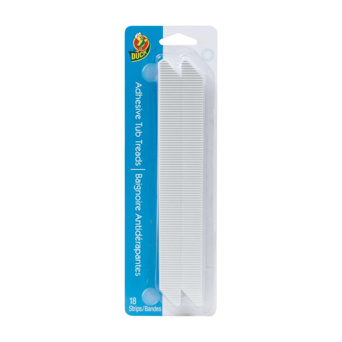 Duck® Brand Adhesive Tub Treads - White, 18 pk, 8.75 in. x .75 in. Image