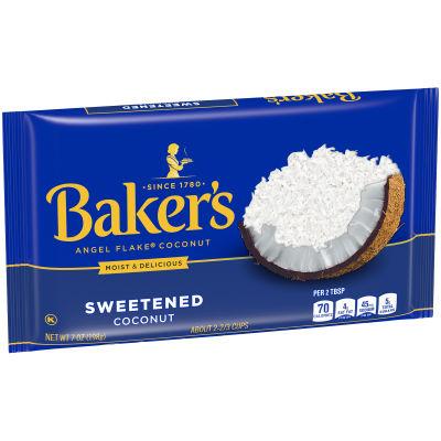 BAKER'S Angel Flake Sweetened Coconut 7 oz Bag