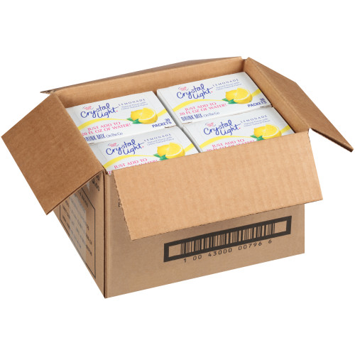 Crystal Light Lemonade Drink Mix, 120.0 ct Casepack, 4 Boxes of 30 On-the-Go Packets
