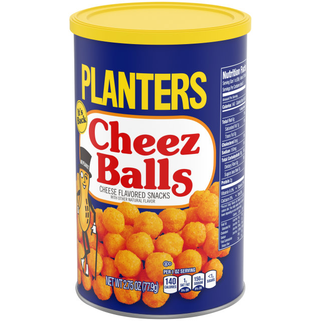Planters Cheez Balls, 2.75 Ounce Cannister