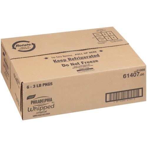 PHILADELPHIA Original Whipped Cream Cheese Spread, 48 oz. Tub (Pack of 6)