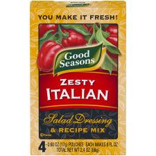 Good Seasons Zesty Italian Salad Dressing & Recipe Mix 4 - 0.6 oz Boxes