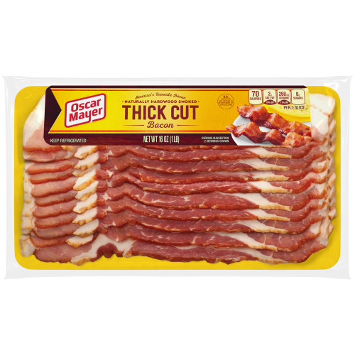 Oscar Mayer Naturally Hardwood Smoked Thick Cut Bacon, 16 oz