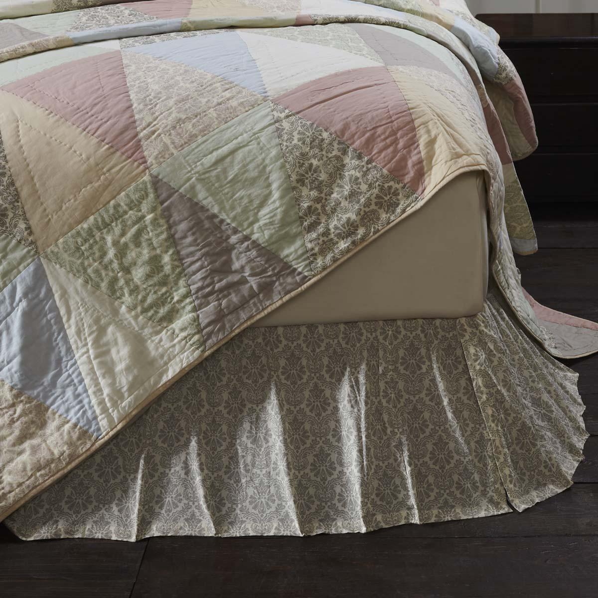 Ava King Bed Skirt 78x80x16