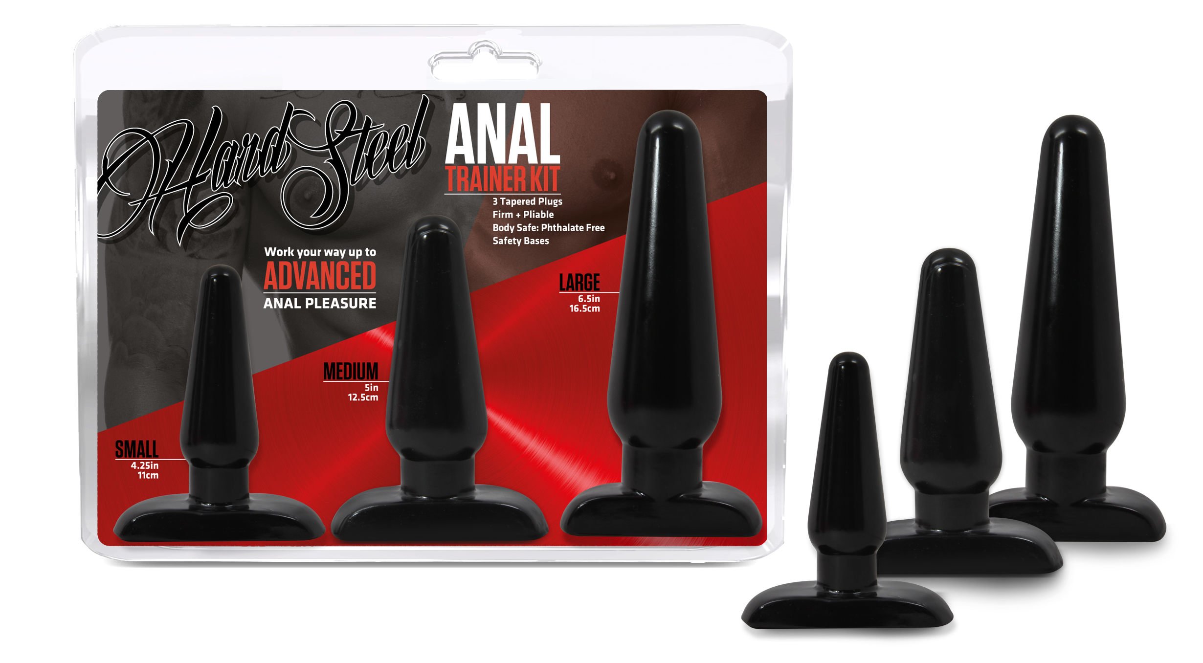 Hard Steel - Anal Trainer Kit - Black