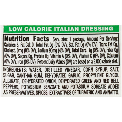 PPI Single Serve Low Calorie Italian Dressing, 12 gr. Packets (Pack of 200)