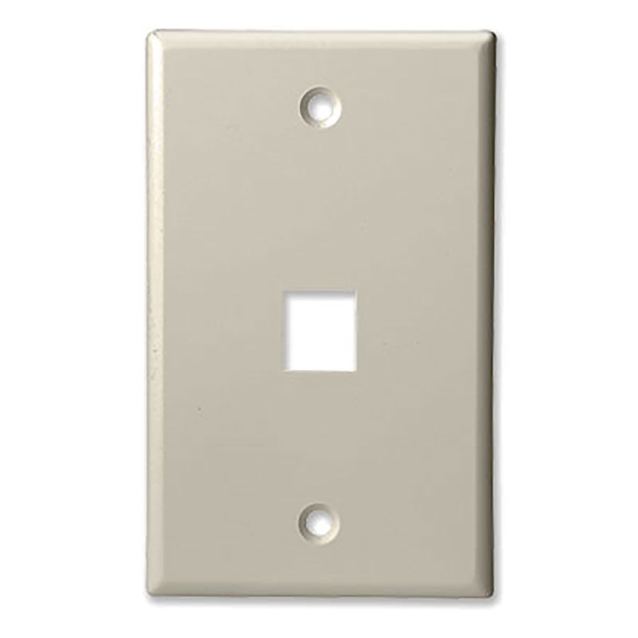 1Port Lite Almond Keystone Plate Wave Electronics