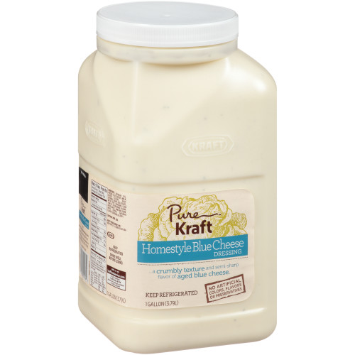 KRAFT Pure Homestyle Blue Cheese Dressing, 1 gal. Jugs (Pack of 4)