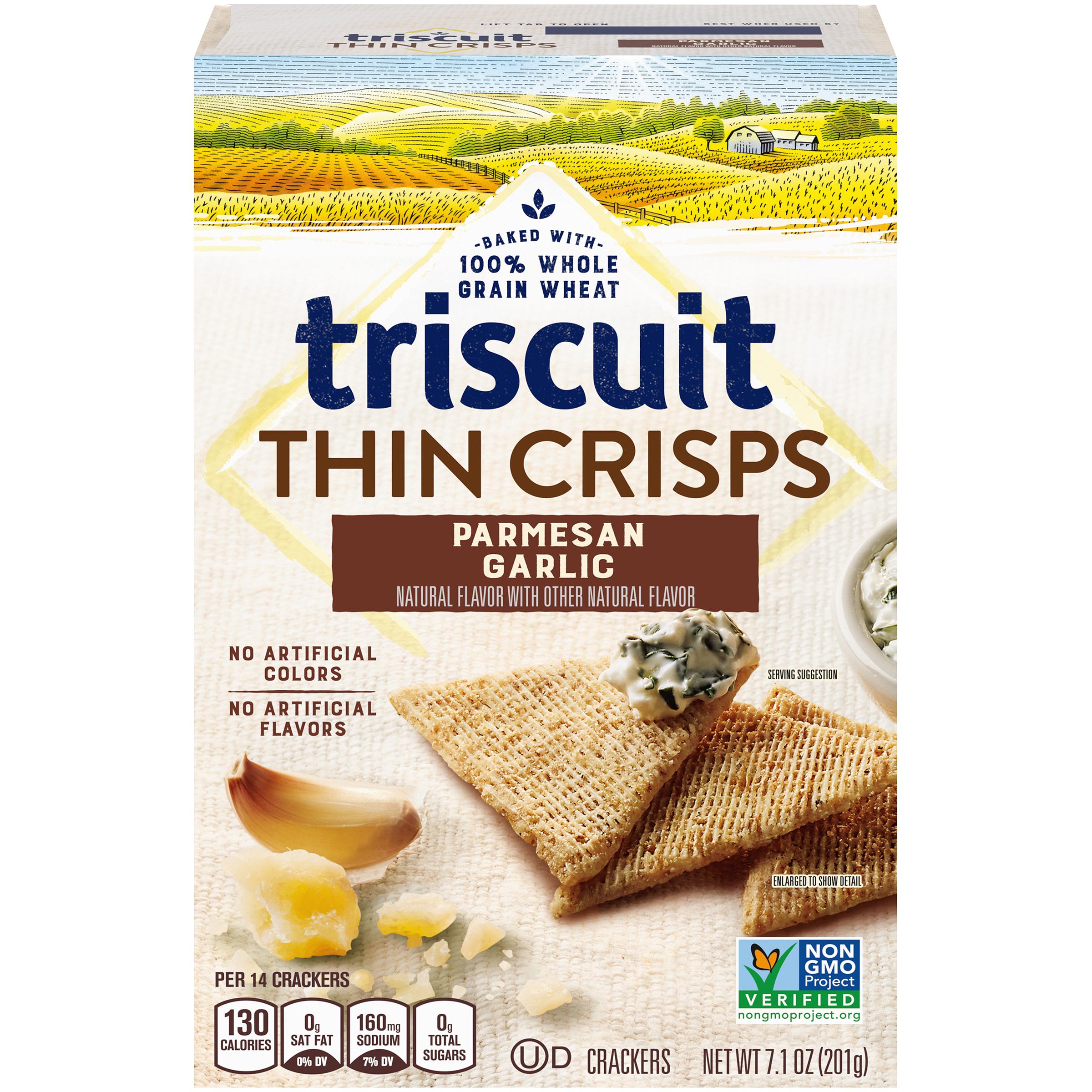 TRISCUIT Thin Crisps Garlic Crackers 7.1 oz