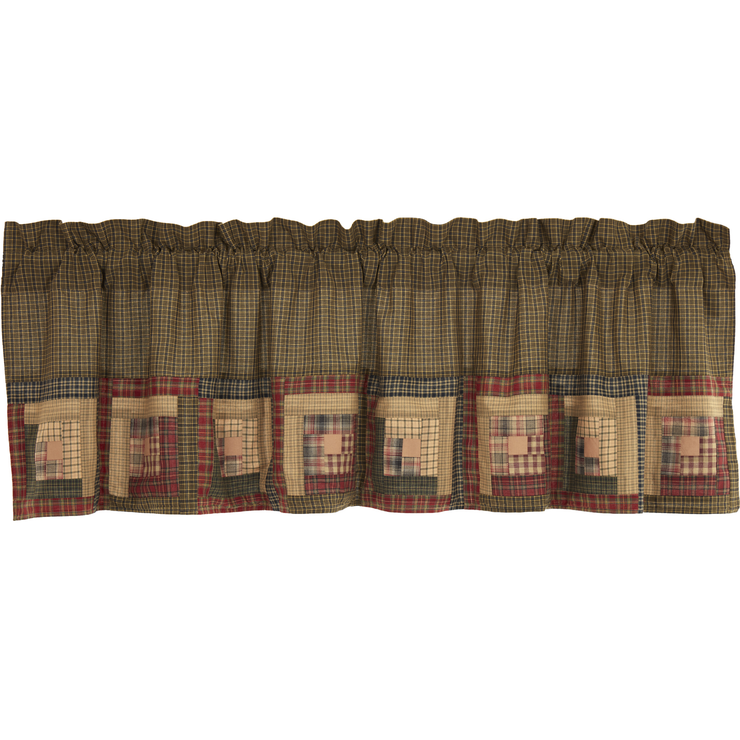 Tea Cabin Valance Log Cabin Block Border 20x72