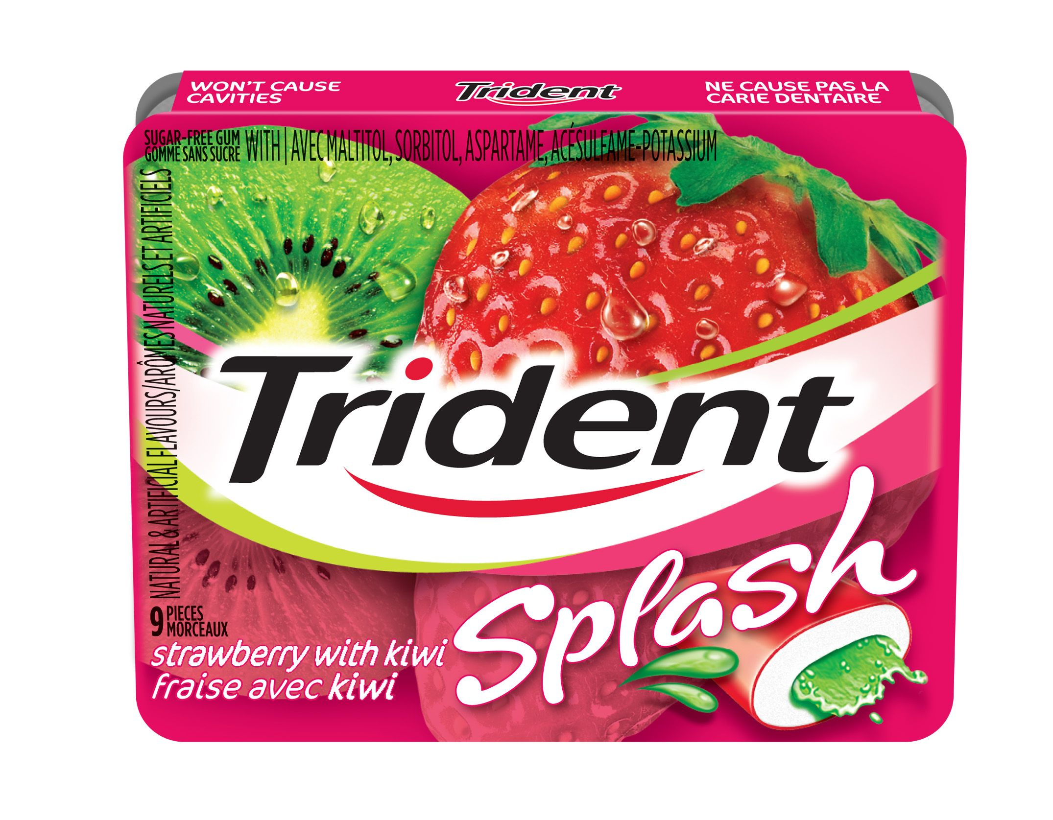 Trident Splash Strawberry Kiwi Gum 90 Count