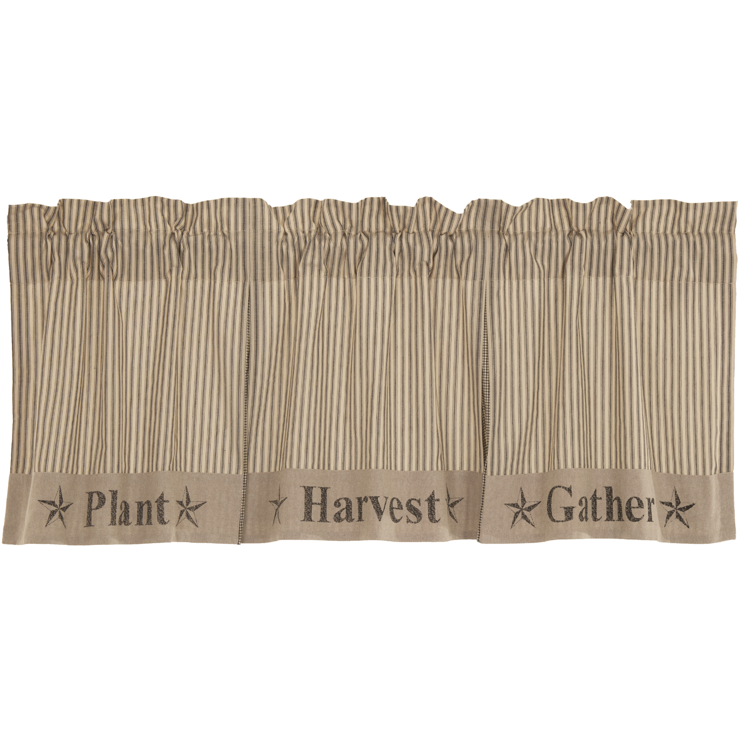 Sawyer Mill Charcoal Gather Valance 20x60