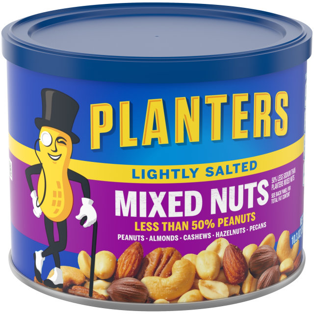 PLANTERS Lightly Salted Mixed Nuts 10.3 oz  Can