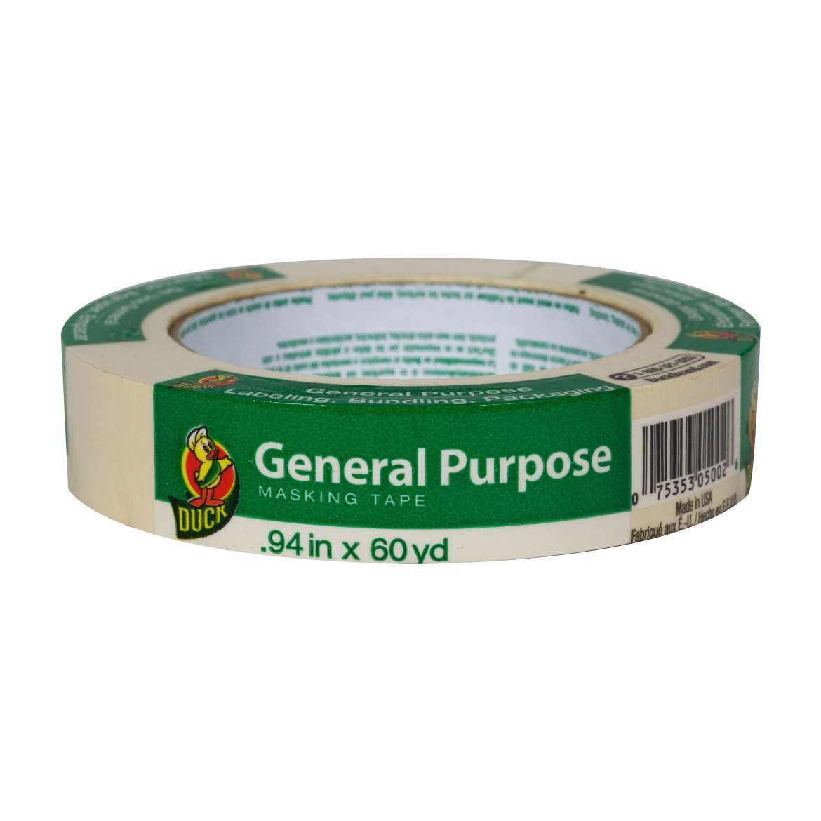 Duck® Brand General Purpose Masking Tape - Beige, .94 in. x 60 yd. Image